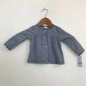 Carter's Long Sleeve Striped Button Down 6M